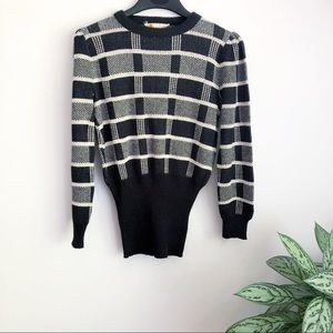Vintage Howard Wolf 80's 90's bubble sweater